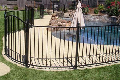 Nashville Wrought Iron Pool Fence